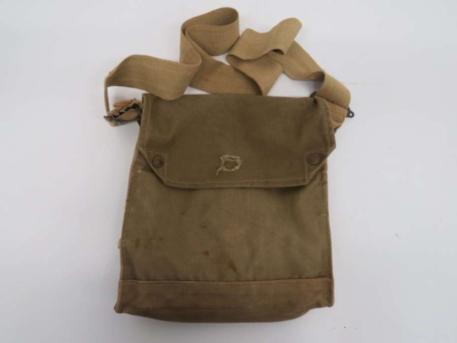 1942 Dated British Gas Mask Bag