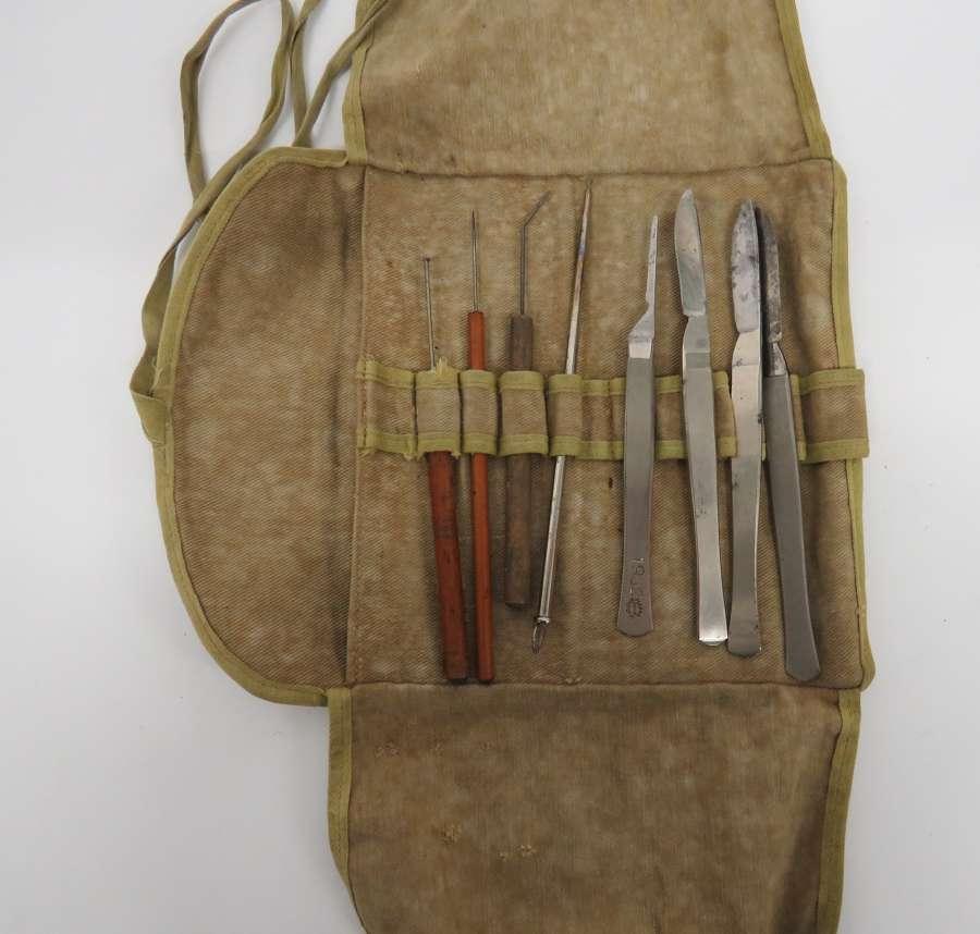 Interwar/WW 2 Field Surgeons Kit Roll
