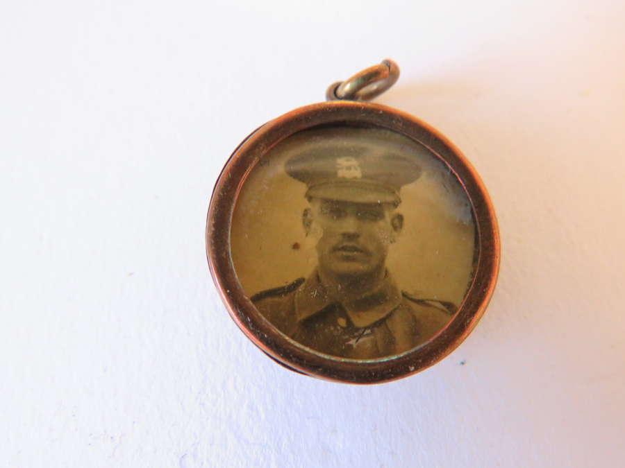 WW 1 Button Sweetheart Locket
