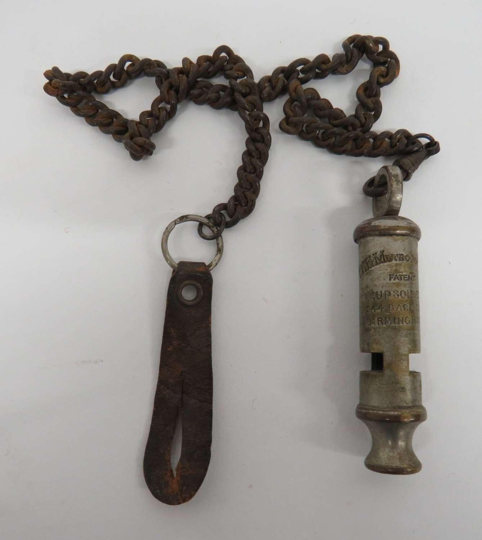 Metropolitan Whistle and Chain