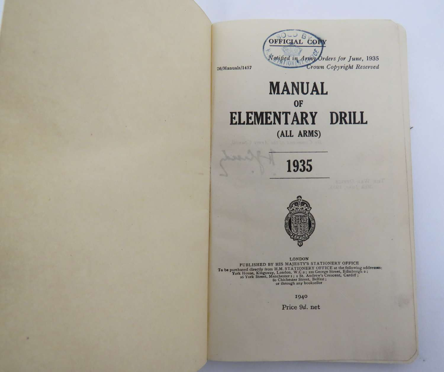 Manual of Elementary Drill 1935