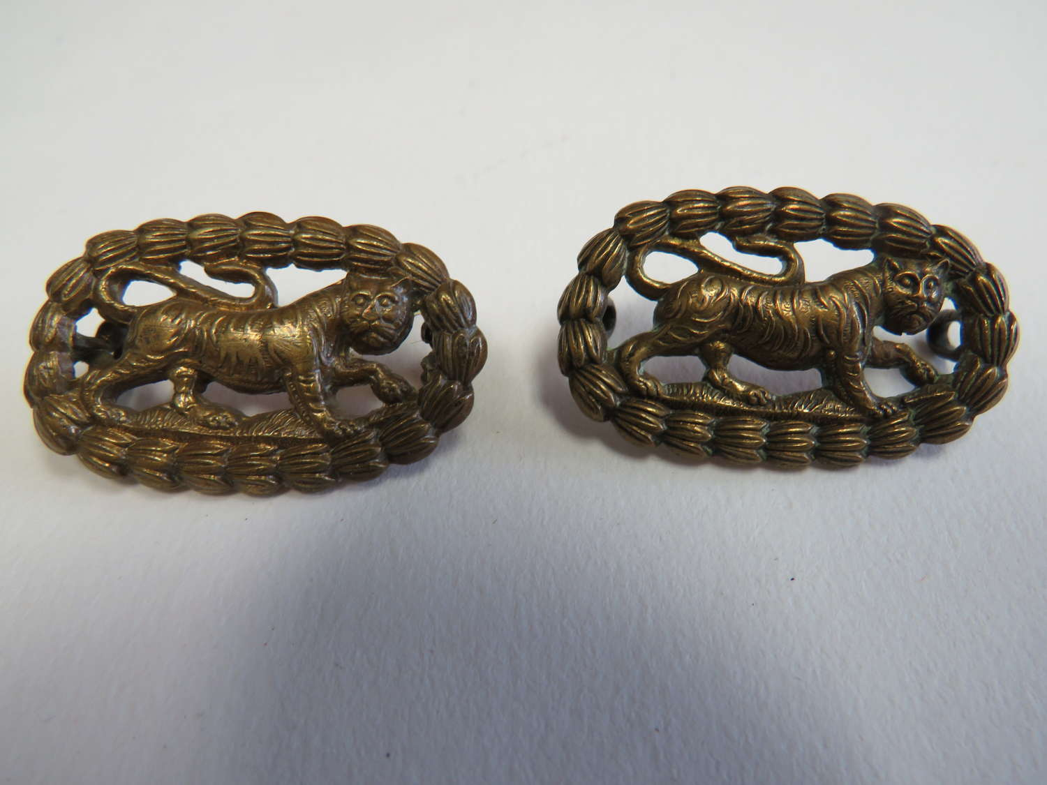 Two Leicestershire Regiment Collar Badges