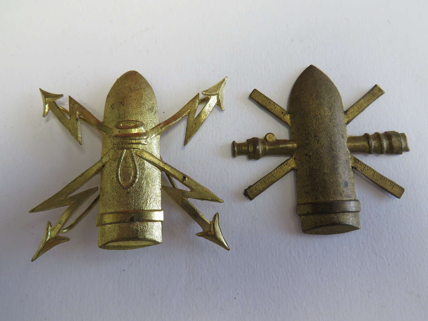 Two Continental Artillery Badges