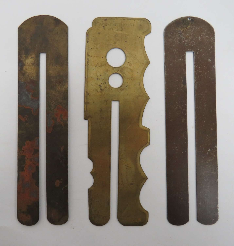 Three Various Button Sticks