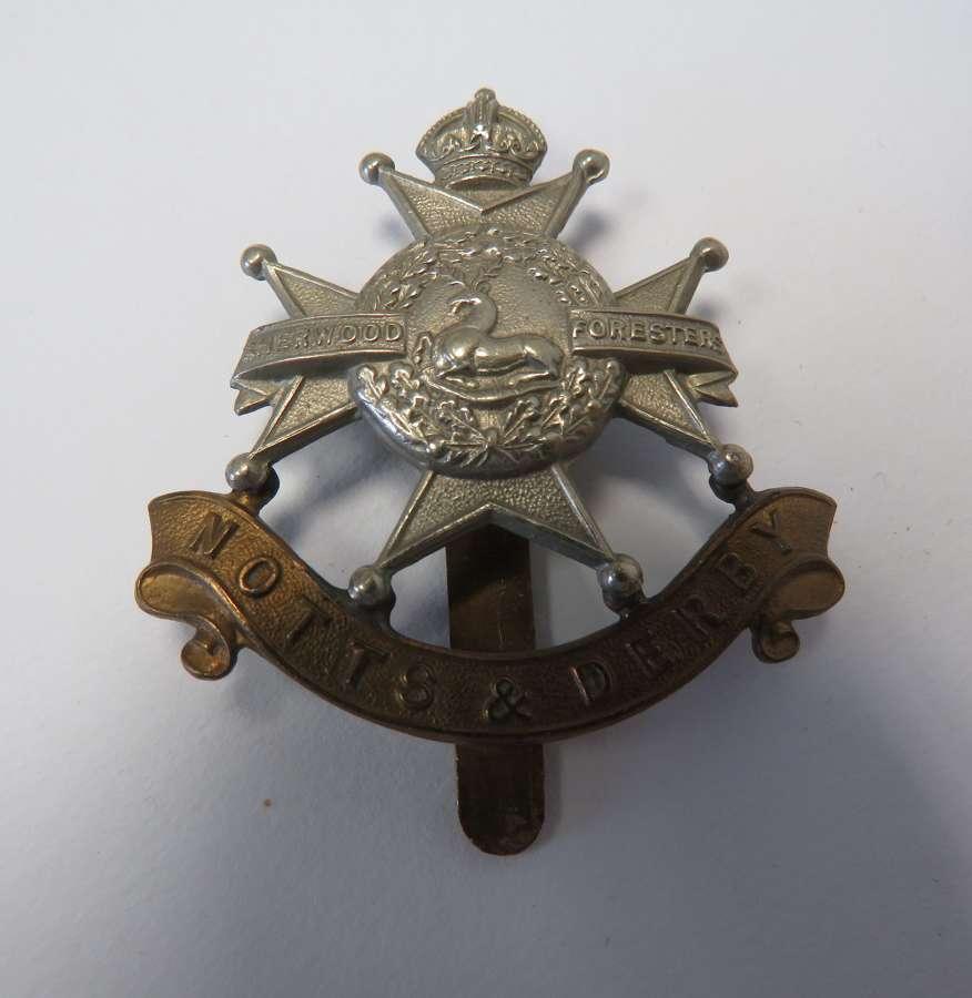 Notts & Derby Cap Badge