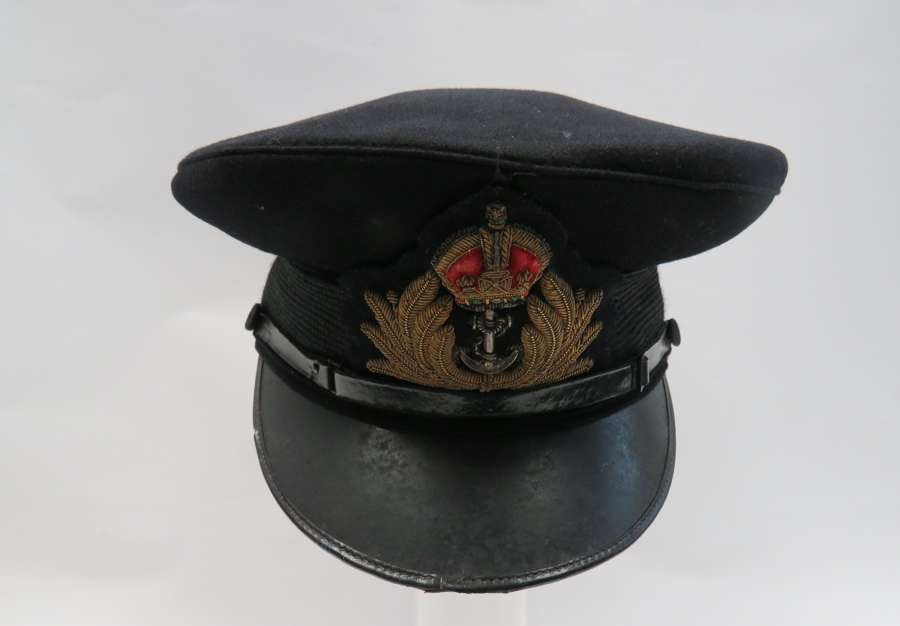 WW 2 Royal Navy Officers Service Dress Cap