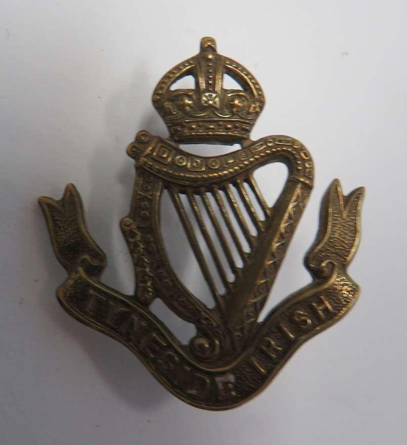 Tyneside Irish Cap Badge