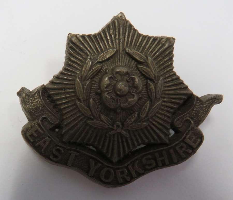 WW 2 East Yorkshire Plastic Economy Cap Badge