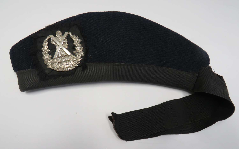 Cameron Highlanders Glengarry Hat