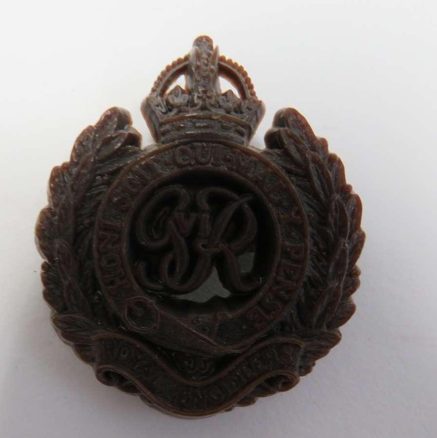 WW 2 Royal Engineers Plastic Economy Cap Badge