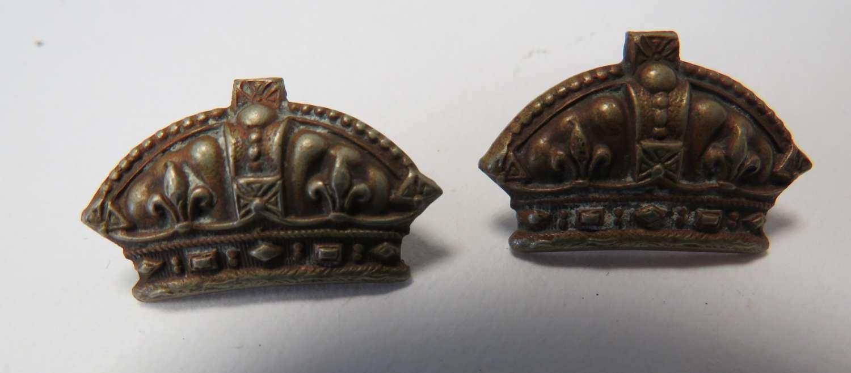 Pair of Universal Pattern Infantry Collar Badges 1872-78