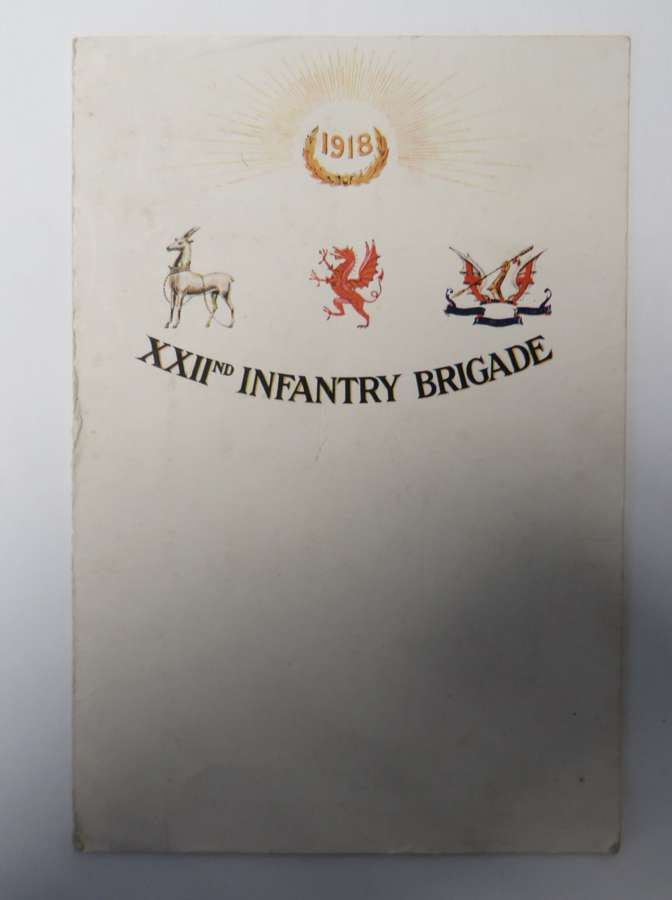 1918 Dated 22nd Infantry Brigade Christmas Card