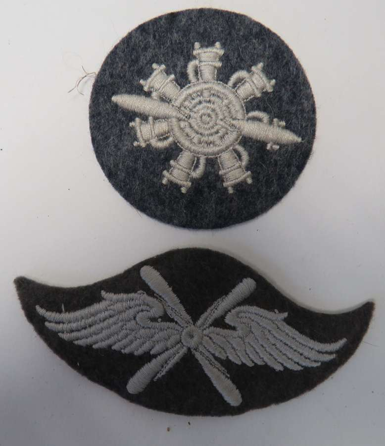Two WW 2 Luftwaffe Arm Badges