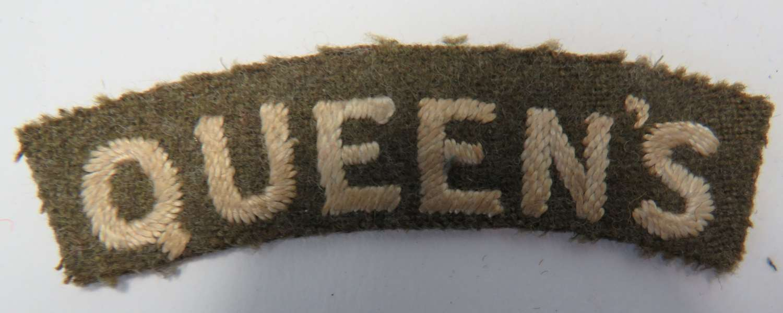 Queens Shoulder Title