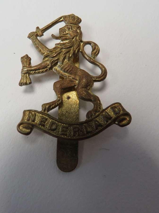 English Made Nederland Cap Badge