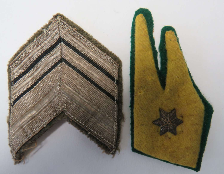 WW 2 Italian Collar Tab and Arm Badge