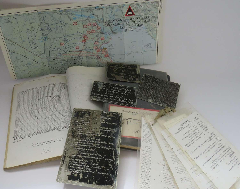 1st Gulf War Captured Document and Mechanical Plates