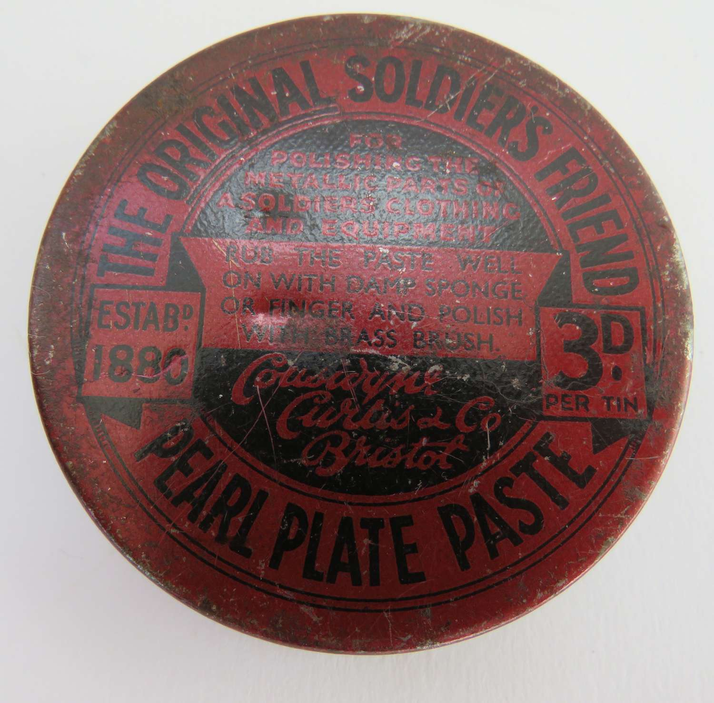WW 1 Soldiers Friend Brass Polish Unopened Tin