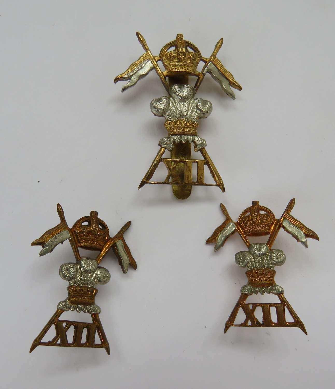 12th Lancers Cap and Collar Set