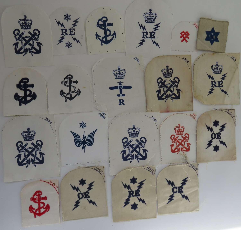 Selection of Royal Navy Trade and Rank Badges