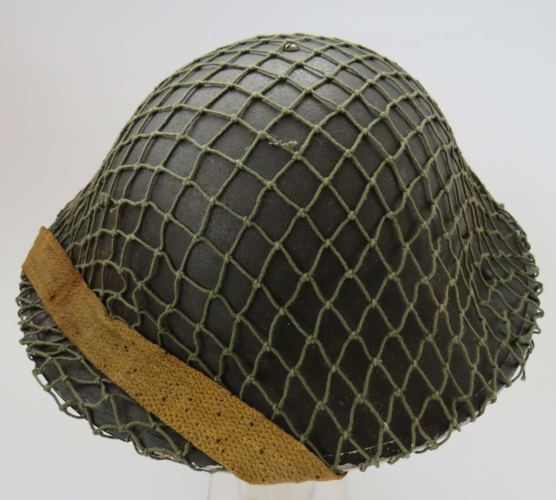 WW 2 British Mk 11 Steel Helmet and Netting Cover