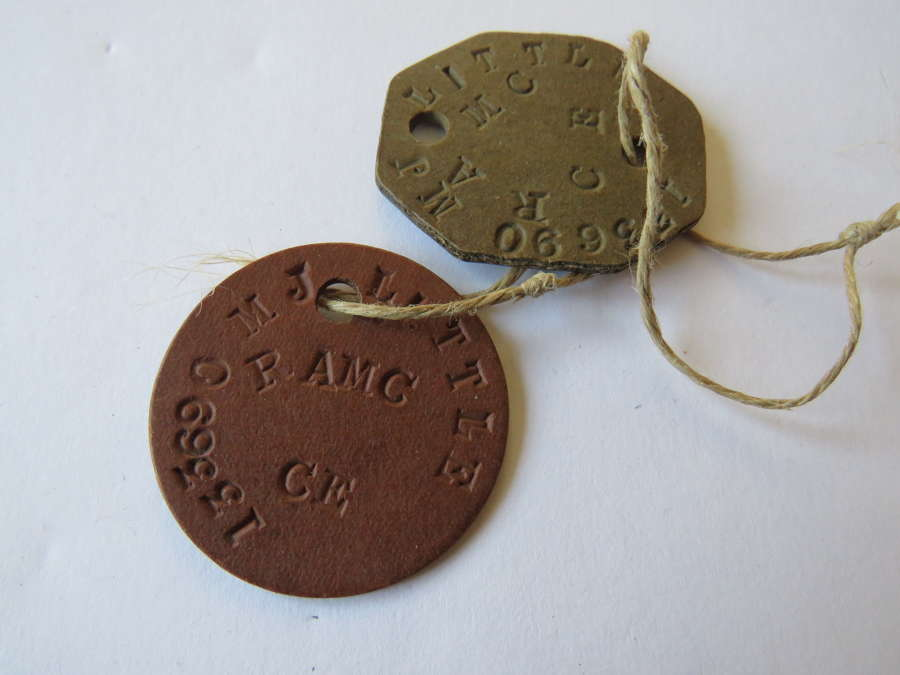 R.A.M.C Pair of I.D Dog Tags