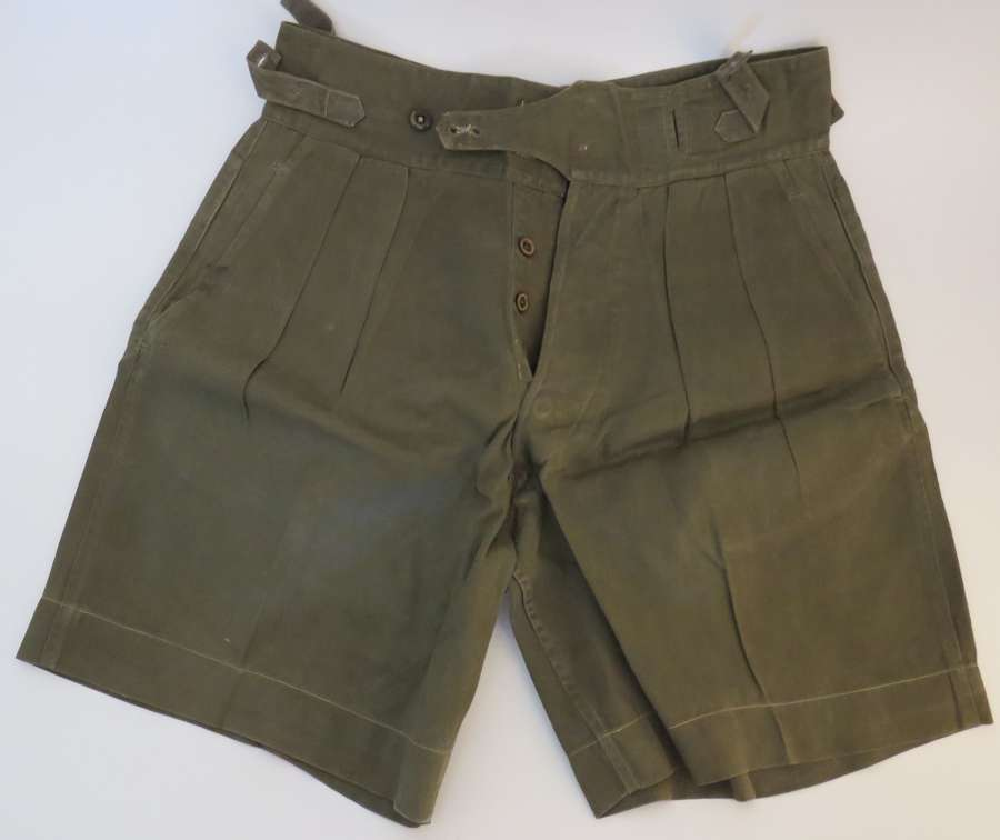 Pair of 1950 Pattern Dark Green Jungle Shorts