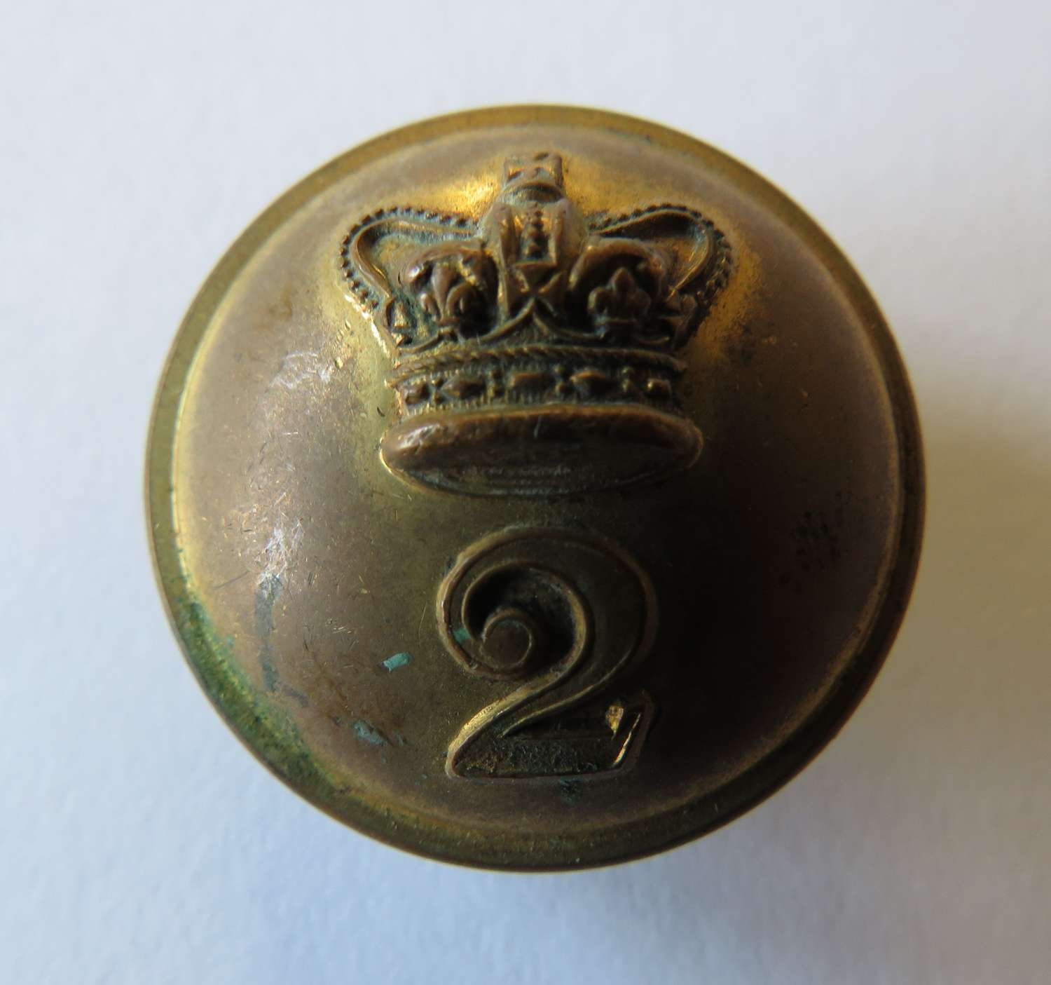 Victorian 2nd Regiment Officers Button