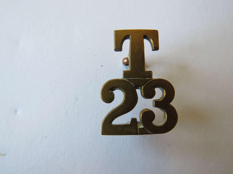 WW 1 T23 Territorial Title