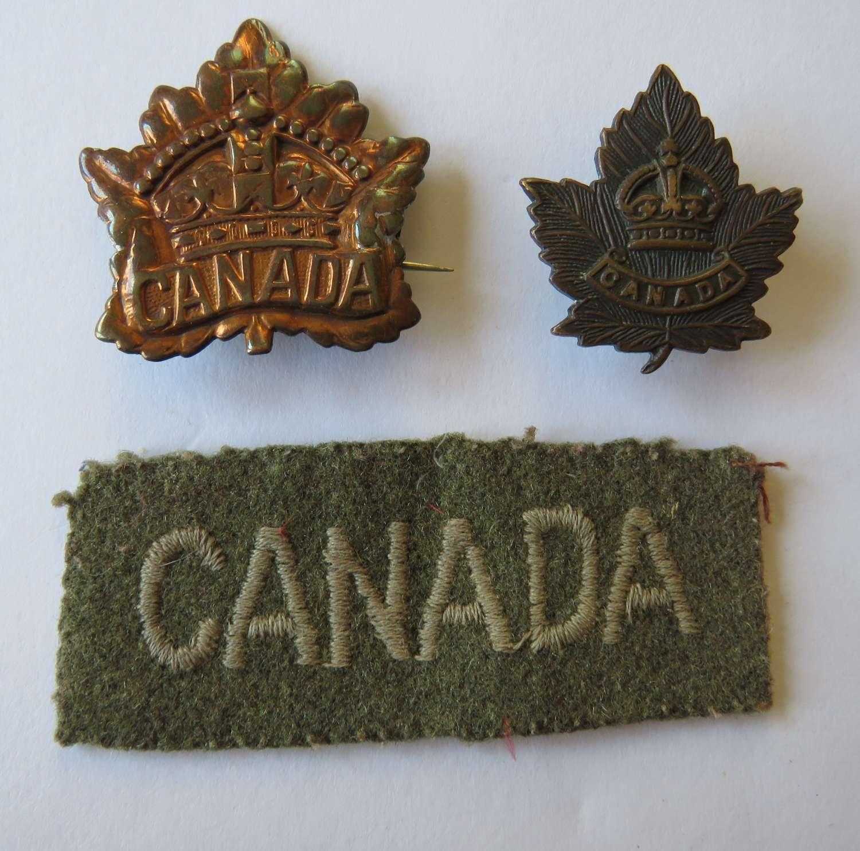 Set of Canada Badges