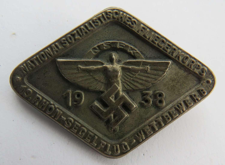 1938 German N.S.F.K Day Badge