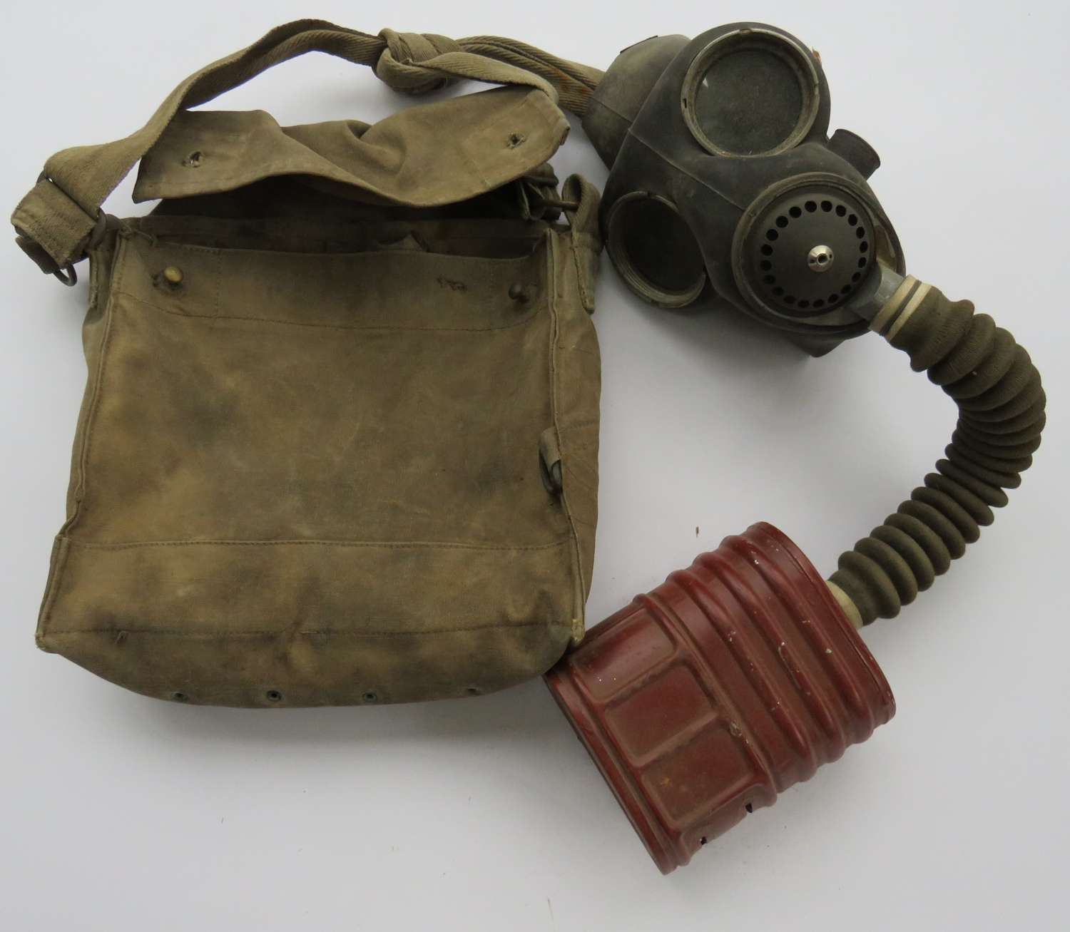 1941 Dated British Respirator in Indian Pattern Case