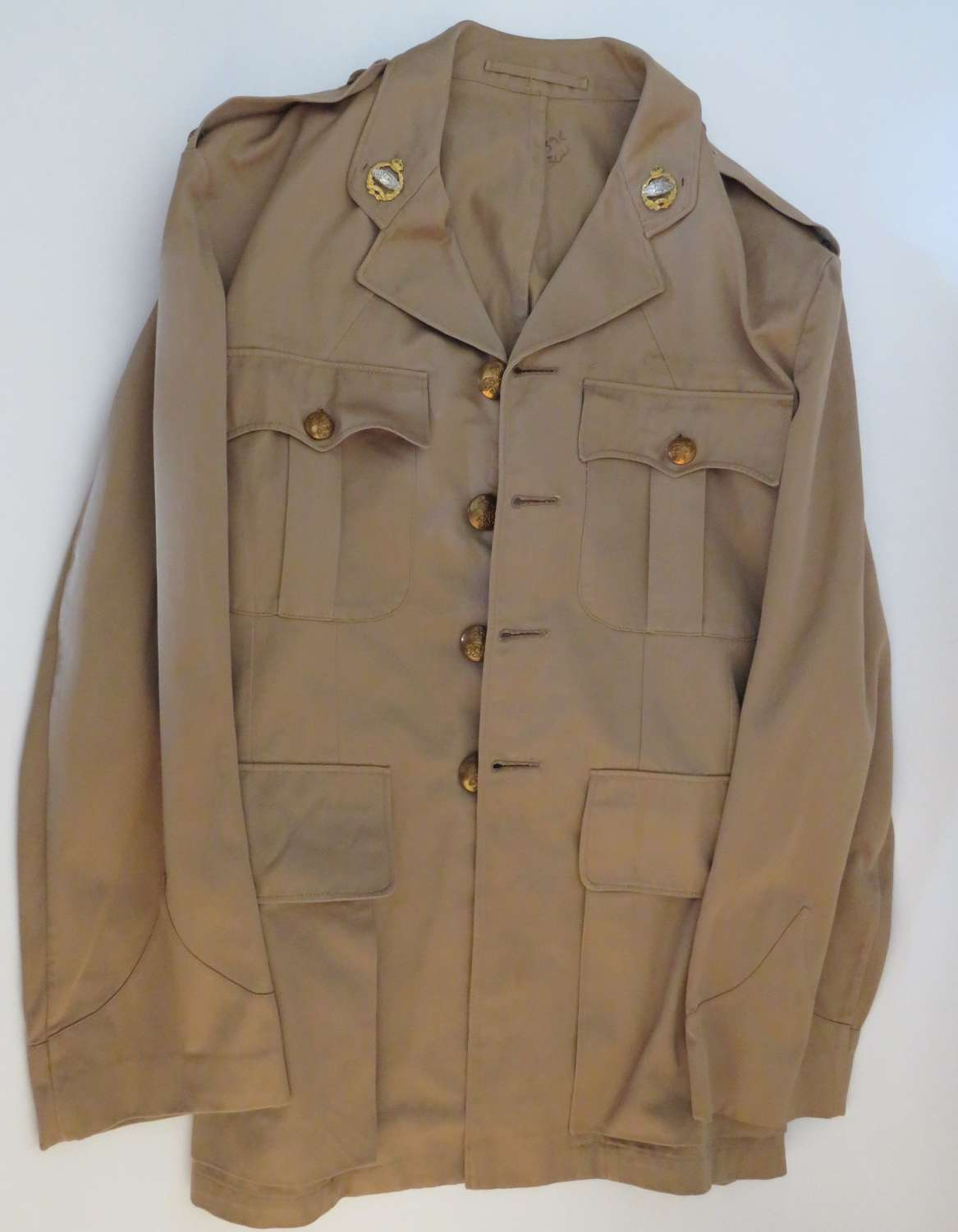 WW 2 Royal Tank Regiment Officers Tropical Tunic