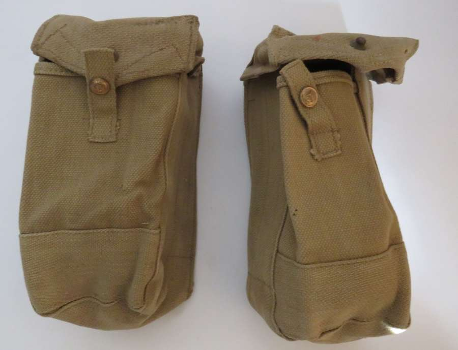 Pair of 1940 Dated Auxiliary Magazine Pouches