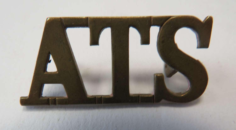 WW 2 A.T.S Shoulder Title