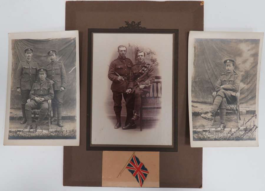 Set of 3 WW 1 Army Photographic Cards