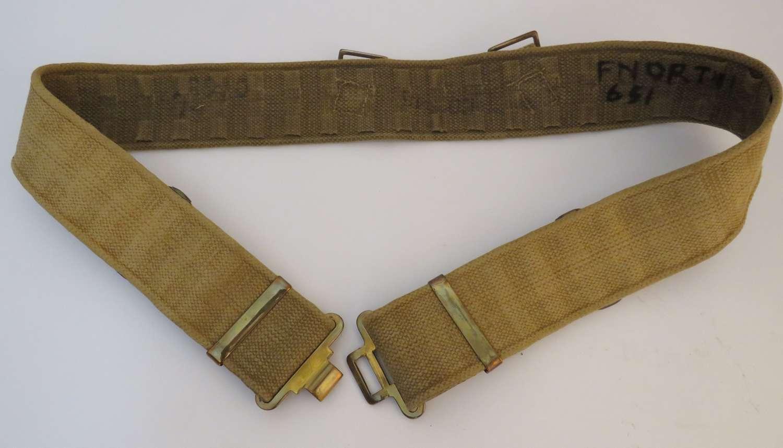 1937 Pattern Webbing Belt