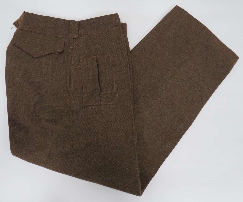 1943 Dated Battle Dress Trousers