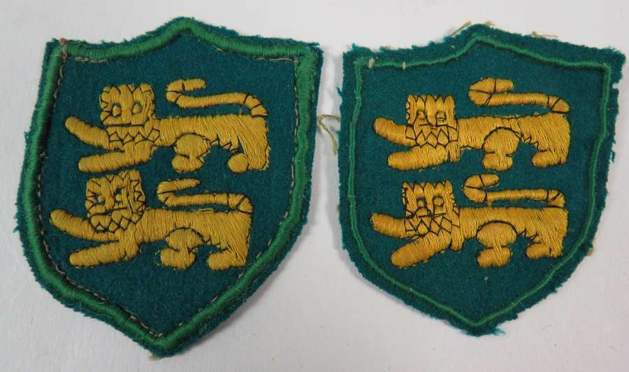 Two WW 2 Cyprus District Formation Badges