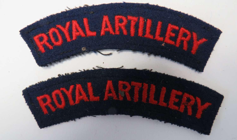 Pair of Royal Artillery Shoulder Titles