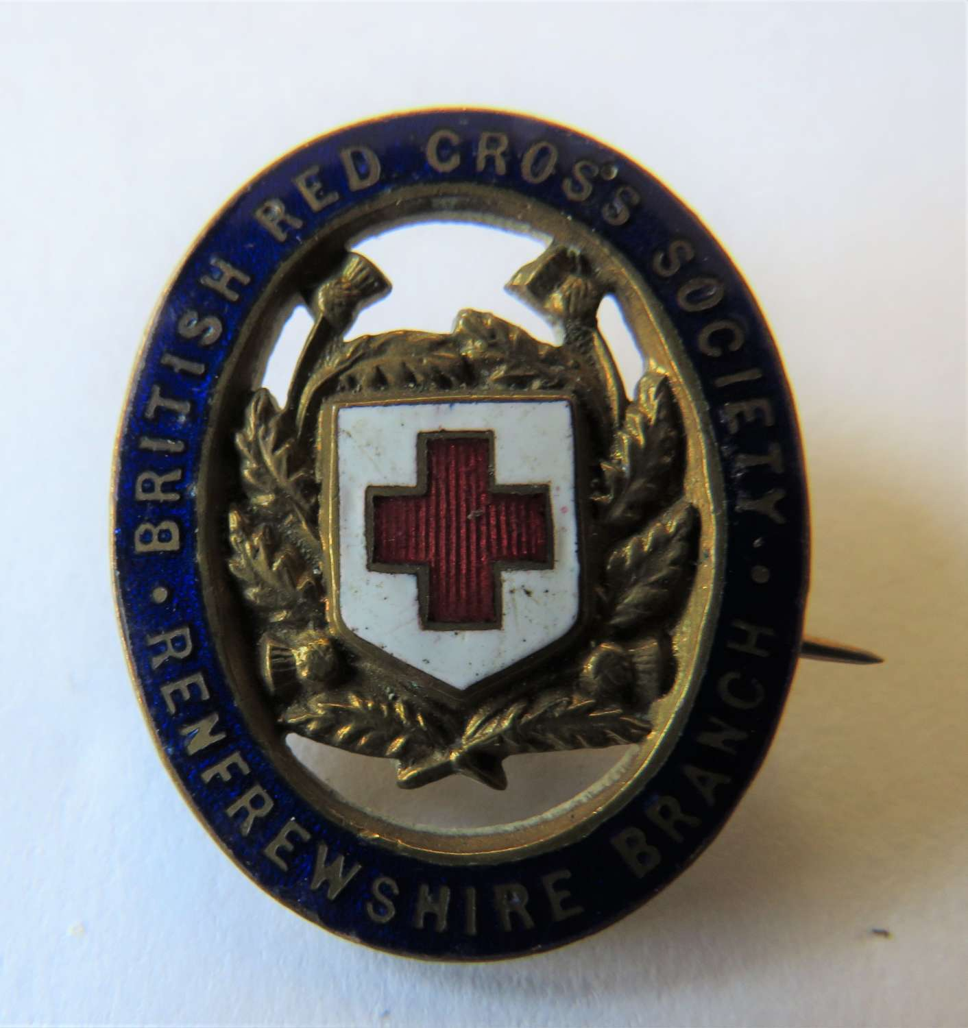 British Red Cross Renfrewshire Lapel Badge