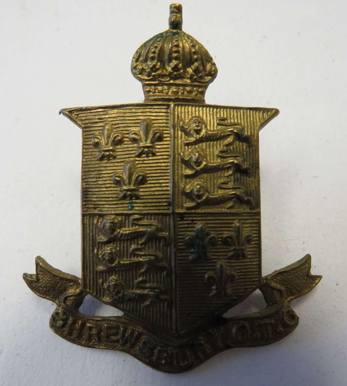 Pre 1952 Shrewsbury O.T.C Cap Badge