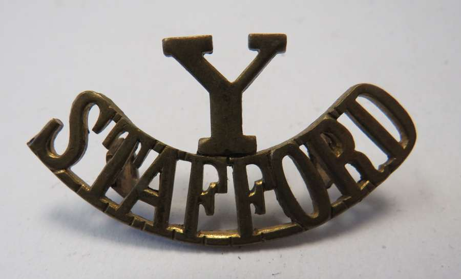 Stafford Yeomanry Shoulder Title