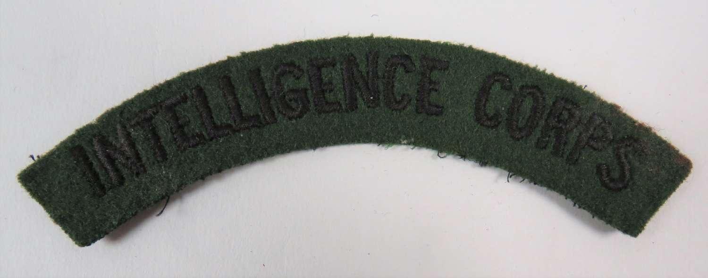 WW 2 Intelligence Corps Shoulder Title