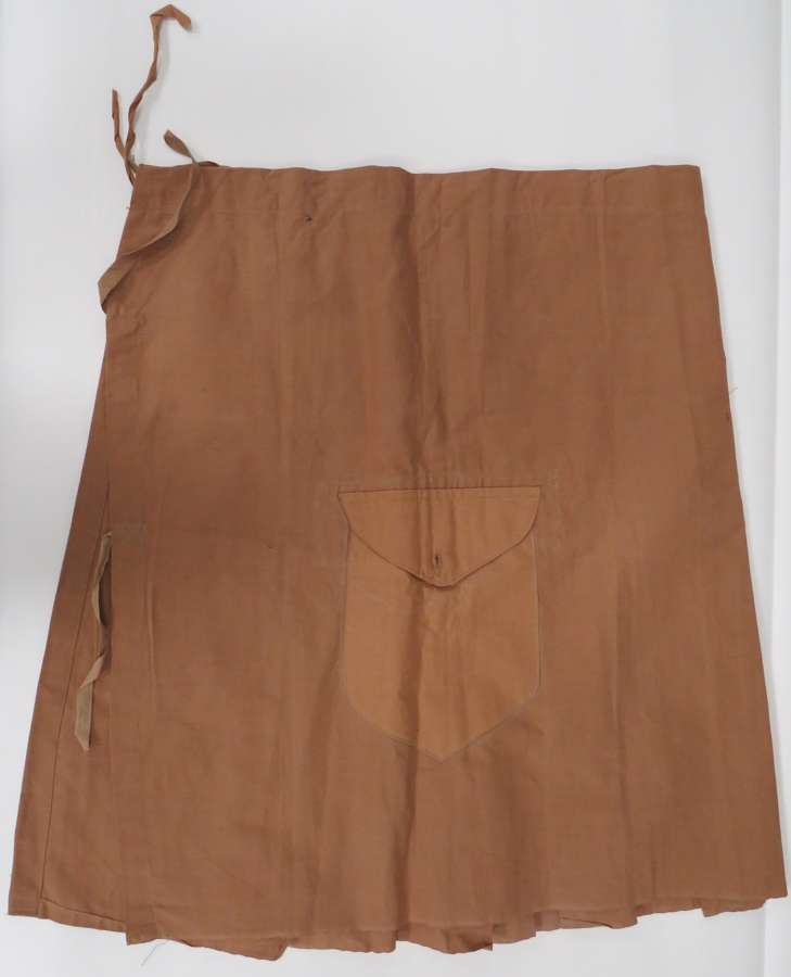 Rare Interwar Scottish Khaki Kilt Cover