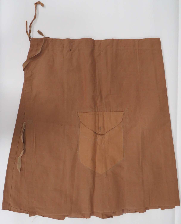 Rare Interwar Scottish Khaki Kilt Cover