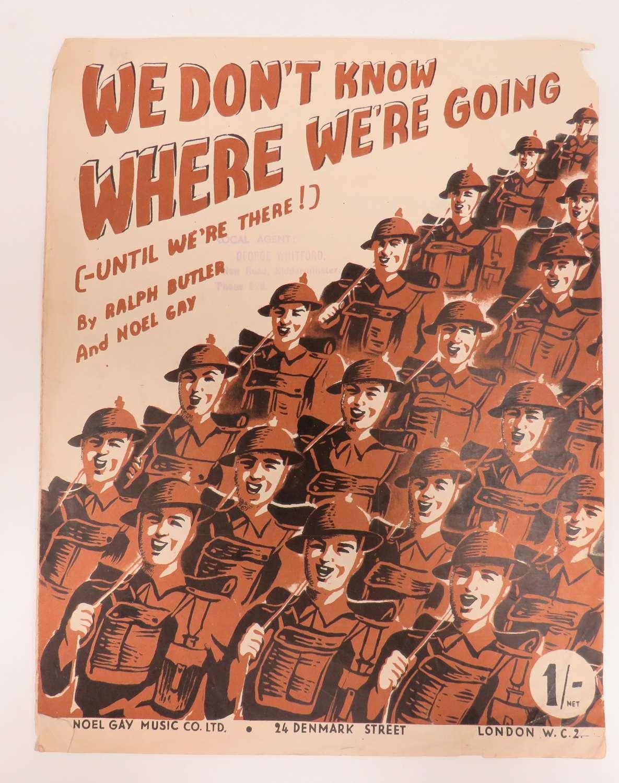 WW 2 Military Music Sheet
