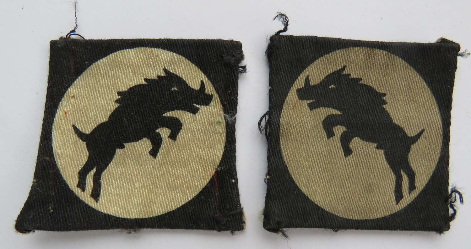 Pair of 30th Corps Formation Badges