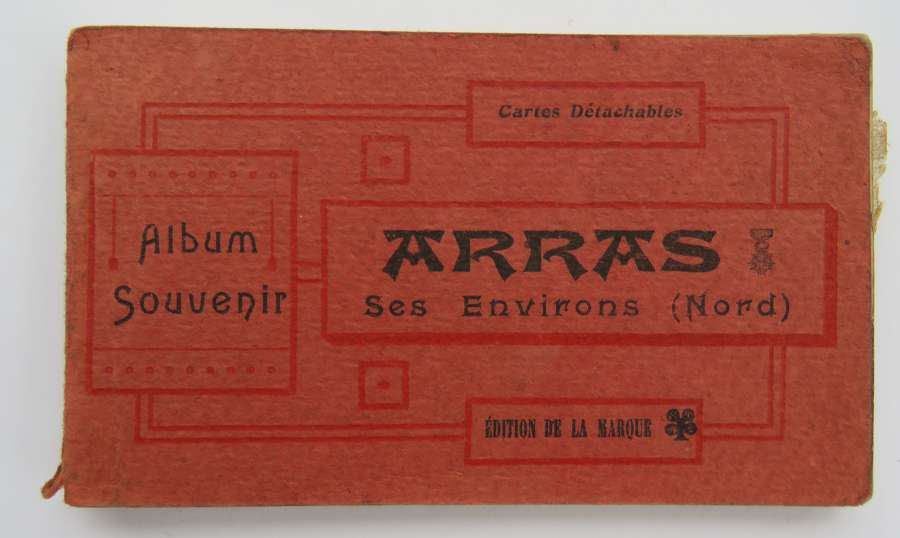 WW 1 Arras Souvenir Postcard Booklet
