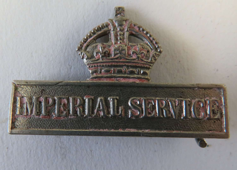 WW 1 Imperial Service Bar